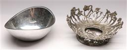 Sale 9136 - Lot 227 - A Richard K. Thomas nambe bowl c1967 (L:22cm) together with a Canadian pewter dish by Etain Zinn (dia:23cm)