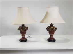 Sale 9255 - Lot 1345 - Pair of classical style table lamps (h66cm)