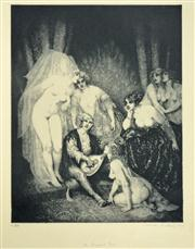 Sale 8019A - Lot 60 - Norman Lindsay (1879 - 1969) - The Ragged Poet 35 x 27cm