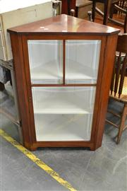 Sale 8050B - Lot 29 - Victorian Corner Cabinet With Bevelled Glass Door (Key In Office)