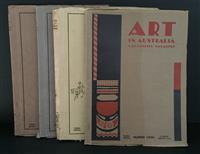 Sale 8176A - Lot 69 - Art in Australia. Third Series. Nos. 31, 33, 37 and 39. Art paper, artistic full page ads and colour tip-ins.