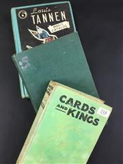 Sale 8539M - Lot 218 - 3 vols., Cards and Kings by Johannes Tralow, 1931. First Edition, no jacket. White Magic by Jasper Maskelyne inscribed H.W. Kemp...