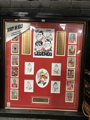 Sale 8805A - Lot 855 - South Melbourne Legends, framed