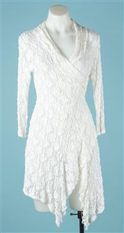 Sale 9027F - Lot 17 - A Mela Purdie lace cardigan in cream. Size 10