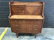 Sale 9022 - Lot 1042A - Danish 7 Drawer Dresser with Slide Top, one handle missing (h:109 x w:86 x d:44cm)