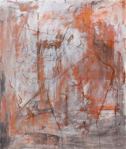 Sale 9191H - Lot 71 - GWYN TOSI Abstract acrylic on canvas 122 x 101 cm signed verso