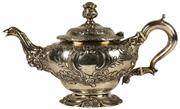 Sale 8057 - Lot 22 - English Hallmarked Sterling Silver George III Teapot