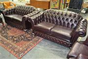 Sale 8165 - Lot 1014 - Pair of Classic Chesterfield Australia Lounges