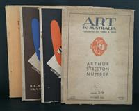Sale 8176A - Lot 70 - Art in Australia. Third Series. Nos. 40, 45, 47 and 48. Art paper, artistic full page ads and colour tip-ins.