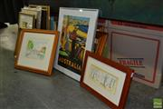 Sale 8503 - Lot 2079 - Collection of Artworks incl Australia Poster