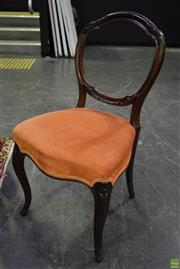 Sale 8566 - Lot 1706 - Set of 4 Balloon Back Dining Chairs