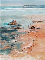 Sale 8764 - Lot 509 - Cheryl Cusick - Beach Evening 121 x 91cm