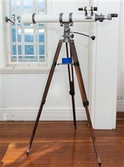 Sale 8990H - Lot 17 - A Mizar Telescope on tripod stand, D=80mm F =900mm, Height shown approx 160cm