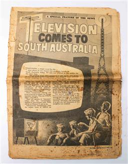 Sale 9098 - Lot 24 - A 1959 Television Coming to South Australia Advertisement Paper