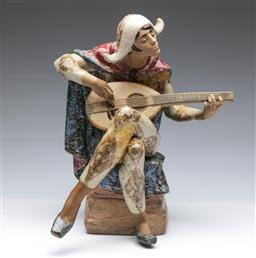 Sale 9098 - Lot 321 - Lladro Figurine Depicting A Man Playing Violin H:37cm (repaired)