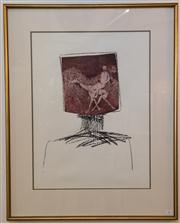 Sale 8048A - Lot 79 - Sidney Nolan, Kelly Head Bourke and Camel, Lithograph, edition: 16/65, numbered and signed below image, 58.5 x 43 cm,