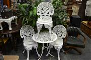 Sale 7987A - Lot 1161 - Cast Iron Table & Three Chairs