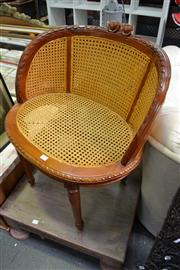 Sale 8013 - Lot 1253 - Timber Framed Chair w Rattan Back & Seat