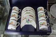 Sale 8169 - Lot 88 - Royal Worcester Mandarin Birds Set of Six Coffee Cans & Saucers