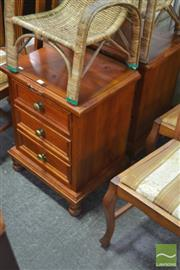 Sale 8289 - Lot 1088 - Pair of Three Drawer Bedside Cabinets