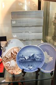 Sale 8362 - Lot 268 - Wedgwood Jasperware Commemorative Cabinet Plates with others incl. Royal Copenhagen (9)