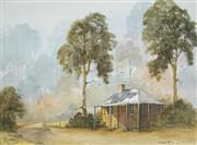 Sale 8506 - Lot 2055 - Susanne Shilling - Stone Cottage 35.5 x 49cm