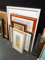 Sale 8682 - Lot 2066 - Group of (5) Assorted Artworks, including original paintings and decorative prints