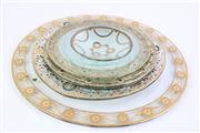 Sale 8844O - Lot 572 - Chic Handpainted Glass Platters & Plates, some signed