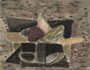 Sale 9084 - Lot 516 - Kevin Lincoln (1941 - ) - Compote with Fruit II, 1987 50 x 64 cm (frame: 64 x 73 x 4 cm)