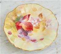 Sale 9090H - Lot 57 - A Royal Worcester berry bowl hand painted and signed K Blake. Diameter 14cm