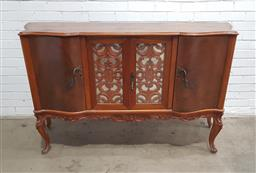 Sale 9134 - Lot 1546A - Elevated French style sideboard with central glass doors - 119 (h:101 w:164 d:47cm)