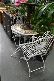 Sale 7987A - Lot 1233 - Outdoor Table & Two Chairs