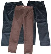 Sale 8173F - Lot 308 - AGNES B AND BANANA REPUBLIC PANTS; Banana Republic Heritage in gardener brown with zips to ankles (26), others (36) with side zip...