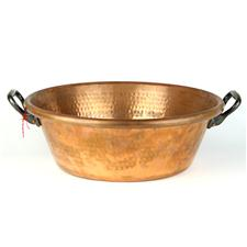 Sale 8351A - Lot 26 - French Copper Preserving Pan diameter 40cm depth 13cm(approx weight 4kg)