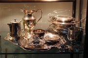 Sale 8379 - Lot 164 - Silver Plated Pair of Tureens with Other Plated Wares incl. Trays