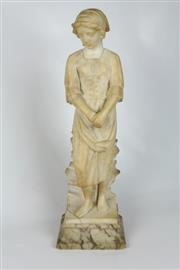 Sale 8425 - Lot 3 - Alabaster Carved Figure of a Lady