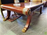 Sale 8566 - Lot 1405 - Inlaid Coffee Table with Ebonised and Gilt Highlights (148 x 88 x 50)