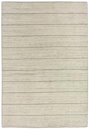 Sale 8651C - Lot 54 - Colorscope Collection; Wool And Viscose - Cream Lines Handloomed Rug, Origin: India, Size: 160 x 230cm, RRP: $1299