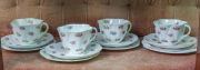 Sale 8677B - Lot 644 - Four Shelley trios in the rosebud pattern.