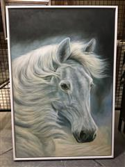 Sale 8750 - Lot 2038 - Artist Unknown - The White Horseacrylic on canvas, 93.5 x 64.5cm, unsigned -
