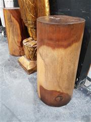 Sale 8843 - Lot 1002 - Pair of Turned Timber Pedestals