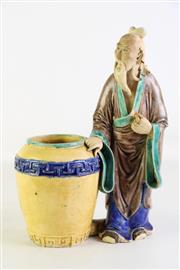 Sale 8923 - Lot 87 - A Chinese Potted Figure of An Elder