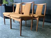 Sale 9022 - Lot 1063 - Set of 4 Vintage Parker Dining Chairs (h:81 x w:49cm)