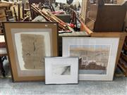 Sale 9069 - Lot 2068 - Beatrice Roe (3 works), Remergence of Wooloomooloo, Tree Study & Three Sheep to the Acre, mixed media on paper, various sizes, eac...