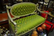Sale 8134 - Lot 1032 - French Style Settee with Green Upholstery