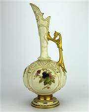 Sale 8139 - Lot 85 - Royal Worcester Blush Ivory Ewer