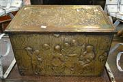 Sale 8161 - Lot 1027 - A 1930s Brass Coal Box with Liner