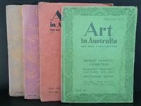 Sale 8176A - Lot 73 - Art in Australia. Third Series. Nos. 72, 75, 79 and 81. Art paper, artistic full page ads and colour tip-ins.