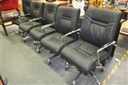 Sale 8175 - Lot 1069 - Set of Five Office Armchairs