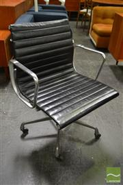 Sale 8511 - Lot 1008 - Herman Miller Eames Group Chair in Black Leather